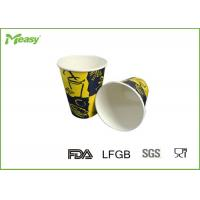 Single Wall Insulated Disposable Coffee Cups Recyclable With Double Poly Coated Paper Manufactures