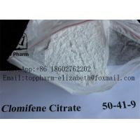 China Clomifene Citrate  Cas 50-41-9  Purity 99%  White Power   crystalline solid on sale