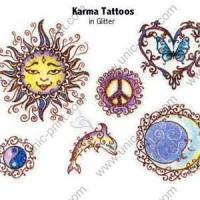 Glitter Temporary Tattoo Sticker/Decal for Body Decoration (TTS-029) Manufactures