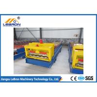 15-20m/min Glazed Roof Tile Roll Forming Machine For Industrial / Civilian Constructions Manufactures