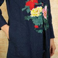 Quality Embroidered Chinese Style Winter Coats for sale