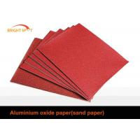 C Weight Craft Aluminium Oxide Abrasive Paper Red Flexible For Stainless Steel Product Manufactures