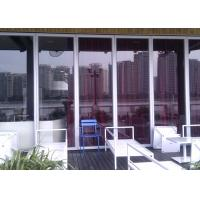 Aluminum Frame Glass Partition Wall  Sliding Partition Suspended Manufactures