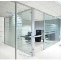 China Movable Modern Office Partitions , Interior Frosted Glass Pillar Partition on sale