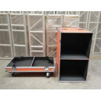 Orange Speaker Audio Road Aluminum Tool Cases with 9mm Thickness Fireproof Plywood Board Manufactures