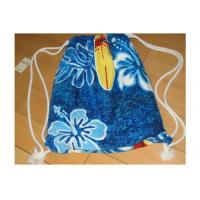 Portable Beach Towel Drawstring Bag Reactive Printing With Smooth / Dot Embossing Manufactures