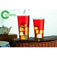 China Sturdy Disposable Drinking Cups , PP Plastic Clear Plastic Cups With Lids on sale