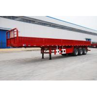 Buy cheap tri axle flatbed trailer with grill intruck trailer with jost legs - CIMC from wholesalers