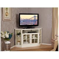Corner Wooden Television Stands With Hexagonal Table Top / Open Shelf Manufactures