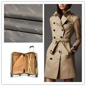 China Environmentally Anti Static Lining Fabric Jacquard Anti - Tear For Garment / Bags on sale