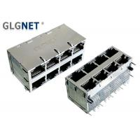 Buy cheap 2.5G Ethernet 2x4 Stacked RJ45 Connectors , 25.78mm Height 8 Port Rj45 Connector from wholesalers
