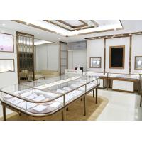 Luxury Design Showroom Display Cases Eco - Friendly Material Covered With Glass Panels Manufactures