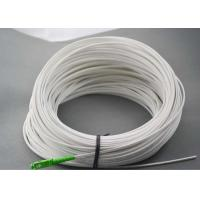 SC / APC White Outdoor Fiber Patch Cord , FTTH Drop Cable Self Support Manufactures