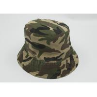 Quality Reversible 100 % Cotton Camo Bucket Hats Fishing Printed Customizable for sale