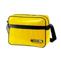 Durable Custom Messenger Bags , Yellow PVC Shoulder Sling Bagwith Cardboard Bottom Manufactures
