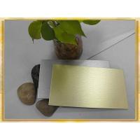 China Golden and Silver Brush Finished Aluminum Composite Board/Sheet/Panel on sale