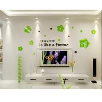 Kids bedroom decoration wall sticker acrylic removable decal flower Manufactures
