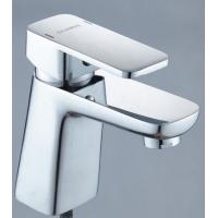 China Single Handle Bathroom Basin Faucets Deck Mounted Chrome Hot Cold Basin Washing on sale