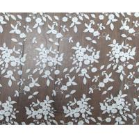 125cm Polyester White Embroidered Mesh Lace Fabric For Wedding Dress Wholesale Manufactures