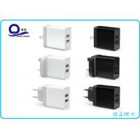 17W 2-Ports Smart USB Charger , USB Wall Charger Dual USB Charger with Foldable Plug Manufactures