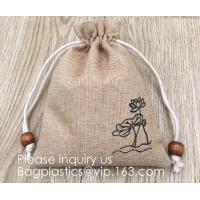 Polyester Fibre Jute Gift Bag Drawstring and Lining 20 Pcs DIY Craft Jewelry Pouch, Storage Linen Burlap Jewelry Pouches Manufactures