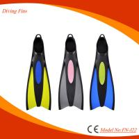Ergonomic Design Full Foot Snorkeling Fins For Scuba Diving / Swimming Manufactures