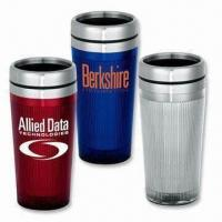 Promotional Travel/Coffee Mugs with Double Wall Construction/16oz Capacity Manufactures