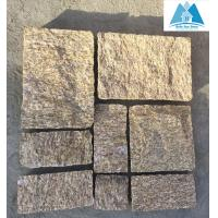 Tiger Skin Yellow Granite Stone Paving Stone Patio Flooring Walkway Pavers Stone Pavement Manufactures