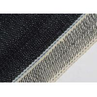 China 19oz 100% Cotton Stretch Denim Fabric Blue Selvedge Continues Dyeing Technics on sale