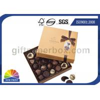 High End Chocolate Packaging Box with Ribbon for Valentine's Day Gifts Packaging Manufactures