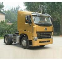 China HOWO A7 4X2 Steel Prime Mover Truck Red White Black Color Diesel Fuel Type on sale