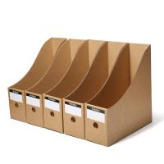 Kraft Paper File Box Paper Packaging Box OEM Logo Printing CMYK Display Manufactures