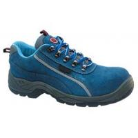 China Protection Feet Navy Blue Work Shoes , Low Cut Safety Shoes Chemical Resistant on sale