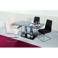 Glass and stainless steel dining tables Manufactures