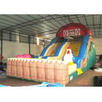 Inflatable the farm themed standard dry slide top inflatable dry commercial slide for children under 15  years Manufactures