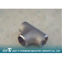 Straight NPS Sizes Titanium Pipe Fittings Grade 1 / Grade 5 / Grade 9 Sand-blasted Manufactures