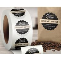 Quality Packaging Printed Self Adhesive Labels On A Roll Glossy Lamination Paper Label for sale