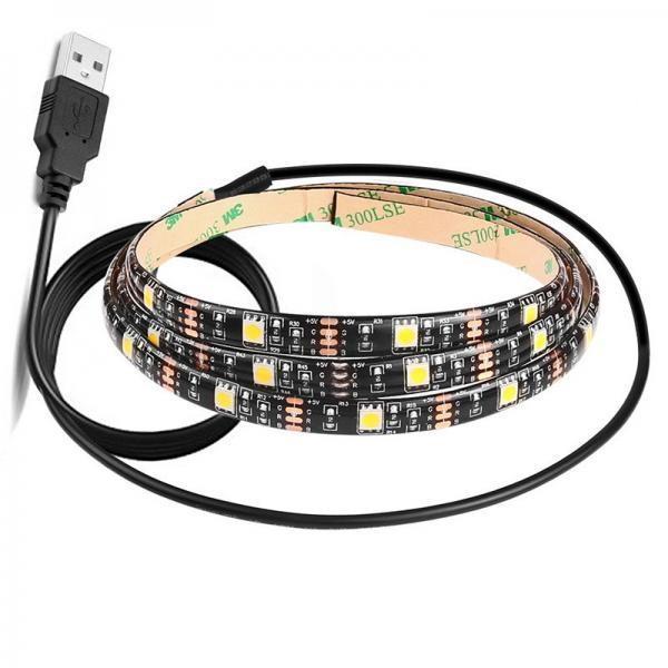 Quality TV Backlight RGB Flexible LED Strip Lights Colour Changeable HDTV USB DC 5V 30LEDs for sale