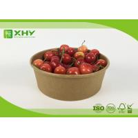 Disposable Kraft Brown Paper Salad Bowls Food Container with Clear Lids Manufactures