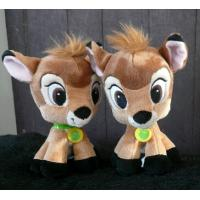 Yellow 8 inch Disney Plush Toys Big Head Bambi Cartoon Character Stuffed Animals Manufactures