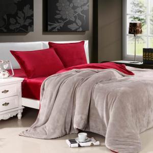 100% polyester contrast color bedding set