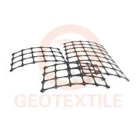 China Road Construction Geogrid Fabric For Retaining Walls , Anti UV Retaining Wall Grid on sale