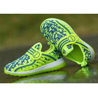 Quality Anti Kicking Fashion Little Kids Shoes Little Boys Sneakers Fly Woven Flyknit Mesh Upper for sale
