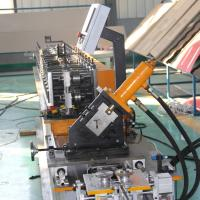 Ceiling T Grid Light Keel Roll Forming Machine With 1.2 Inch Chain Drive Manufactures