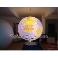 170mm Tether Points Inflatable Lighting globe Balloon for Entertainment events Manufactures