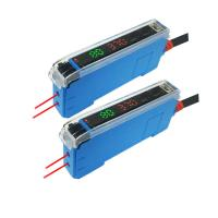 12V-24VDC Red Light NPN Or PNP Digital Display Fiber Optic Amplifier Manufactures