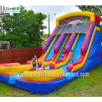 Kids commercial inflatable water slides two lane with - Commercial swimming pool water slides ...