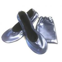 Quality China Wholesale Navy Blue Roll Up Driving Shoes with Printing Logo in a Bag for sale