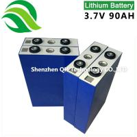 Aluminum shell lithium battery for back-up energy storage Wind Solar Hybrid system 3.2V 90Ah LiFePO4 Batteries Cell Manufactures
