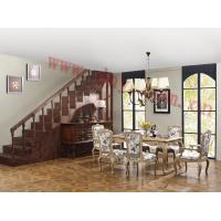 China Antique American style solid wood dining table, dining chairs and buffet in living room on sale